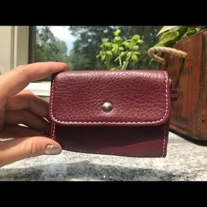 Tommy Hilfiger Brown Leather Coin Purse/Wallet